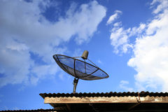 Satellite dish with blue sky Royalty Free Stock Photography
