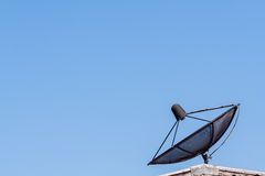 Satellite dish on blue sky ,communication technology network Royalty Free Stock Photography
