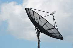Satellite dish on the Blue sky Stock Photography