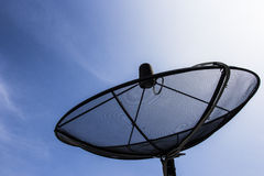 Satellite dish in blue sky. Royalty Free Stock Photos