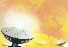 Satellite dish broadcasting technology background royalty free stock photo