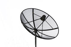 Satellite dish and cable communication technology network. Stock Images