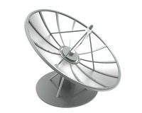 Satellite dish with clipping path Royalty Free Stock Photo