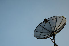 Satellite dish with blue sky Stock Photo