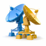 Satellite dish.  Communiation. Royalty Free Stock Images