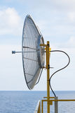 Satellite dish for communication in offshore,A radio telescope is a form of directional radio antenna used in radio astronomy. Satellite dish for communication Stock Photos