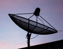Satellite dish communication Royalty Free Stock Image