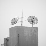 Satellite dish communication technology network Royalty Free Stock Photo