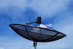 Satellite dish. Communication technology network with blue sky Royalty Free Stock Photos