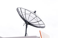 Satellite dish for communication Stock Images