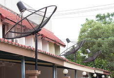 Satellite dish. Satellite communications for residential usage Royalty Free Stock Photos