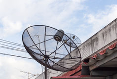 Satellite dish. Satellite communications for residential usage Stock Photos