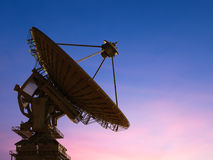 Satellite dish. 3d rendering satellite dish with twilight sky background Royalty Free Stock Photos