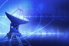 Satellite Dish. 3d satellite dish and waves Stock Images
