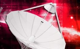 Satellite dish. Digital illustration of satellite dish in colour background stock photos