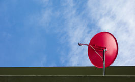 Satellite dish in digital system with blue sky Royalty Free Stock Image