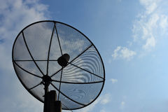 Satellite dish. Equipment used for the reception of television in rural communities Stock Photography