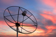 Satellite dish on Evening light. Stock Images