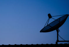 Satellite dish. In evening time Stock Photography
