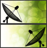 Satellite dish on global background Royalty Free Stock Images