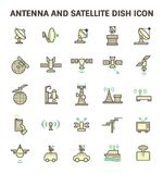 Satellite Dish Icon. Antenna and satellite dish vector icon set Stock Images