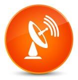 Satellite dish icon elegant orange round button Stock Photo