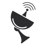 Satellite dish icon Royalty Free Stock Image