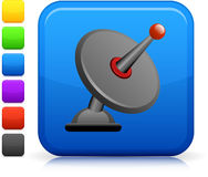 Satellite dish icon on square internet button Royalty Free Stock Images