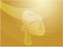 Satellite dish illustration Stock Image