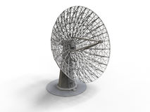 Satellite dish illustration Royalty Free Stock Image
