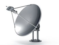 Satellite dish isolated on white Stock Images