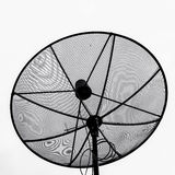 Satellite dish. In isolated white background Stock Photos