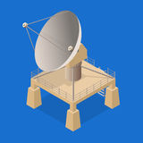 Satellite Dish Isometric View. Vector Stock Photography
