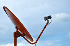 Satellite dish. KU band satellite antenna systems Royalty Free Stock Photography