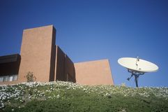 Satellite dish at Malibu in the Santa Monica Mountains, CA Stock Image