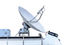 Satellite dish on mobile car roof Royalty Free Stock Photos