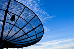 Satellite dish  with morning sky Royalty Free Stock Photo