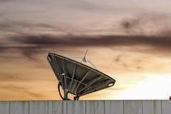 Satellite dish near chonburi thailand. Satellite dish sunset near chonburi thailand Stock Image