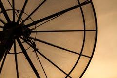 Satellite dish. Old Satellite dish in the sunset Royalty Free Stock Photo