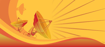 Satellite dish orange Stock Images