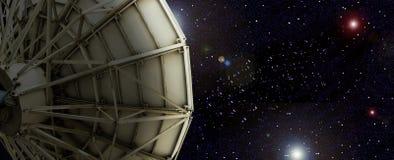 Satellite dish outside the universe. Satellite dish outside the universe backgroud stock image