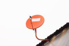 Satellite dish. Pic of orange satellite dish Royalty Free Stock Image