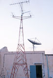 Satellite dish and radio receiver Stock Images
