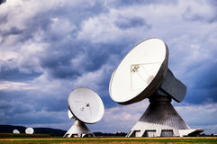 Satellite dish - radio telescope Royalty Free Stock Photo