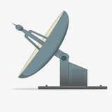 Satellite dish. A radio telescope. icon isolated on white background Stock Photo
