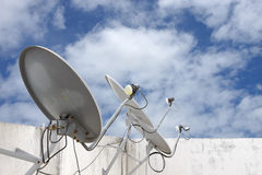Satellite dish receivers Stock Image
