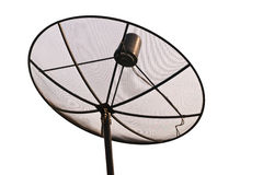 Satellite  dish. Satellite dish receives signal from satellite on white background Royalty Free Stock Image