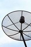 Satellite Dish. The satellite dish receives signals from satellite Stock Photos