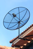Satellite dish on the roof Royalty Free Stock Image