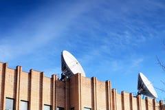 Satellite Dish on roof. stock image